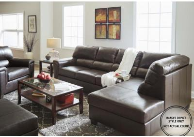 Image for Stefano Brown 2Pc Sectional Laf Sofa
