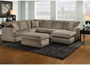 Image for Lacey 2 Pc Sectional Pewter Raf Sofa Chaise