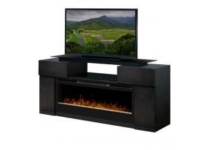 "Image for 73"" Electric Media Console Fireplace With Media Cabinets"