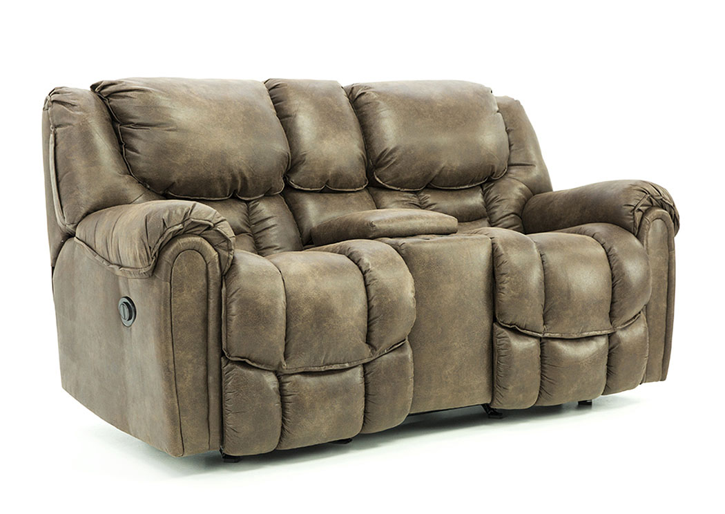 BAXTER MOCHA POWER RECLINING LOVESEAT WITH CONSOLE,HOMESTRETCH