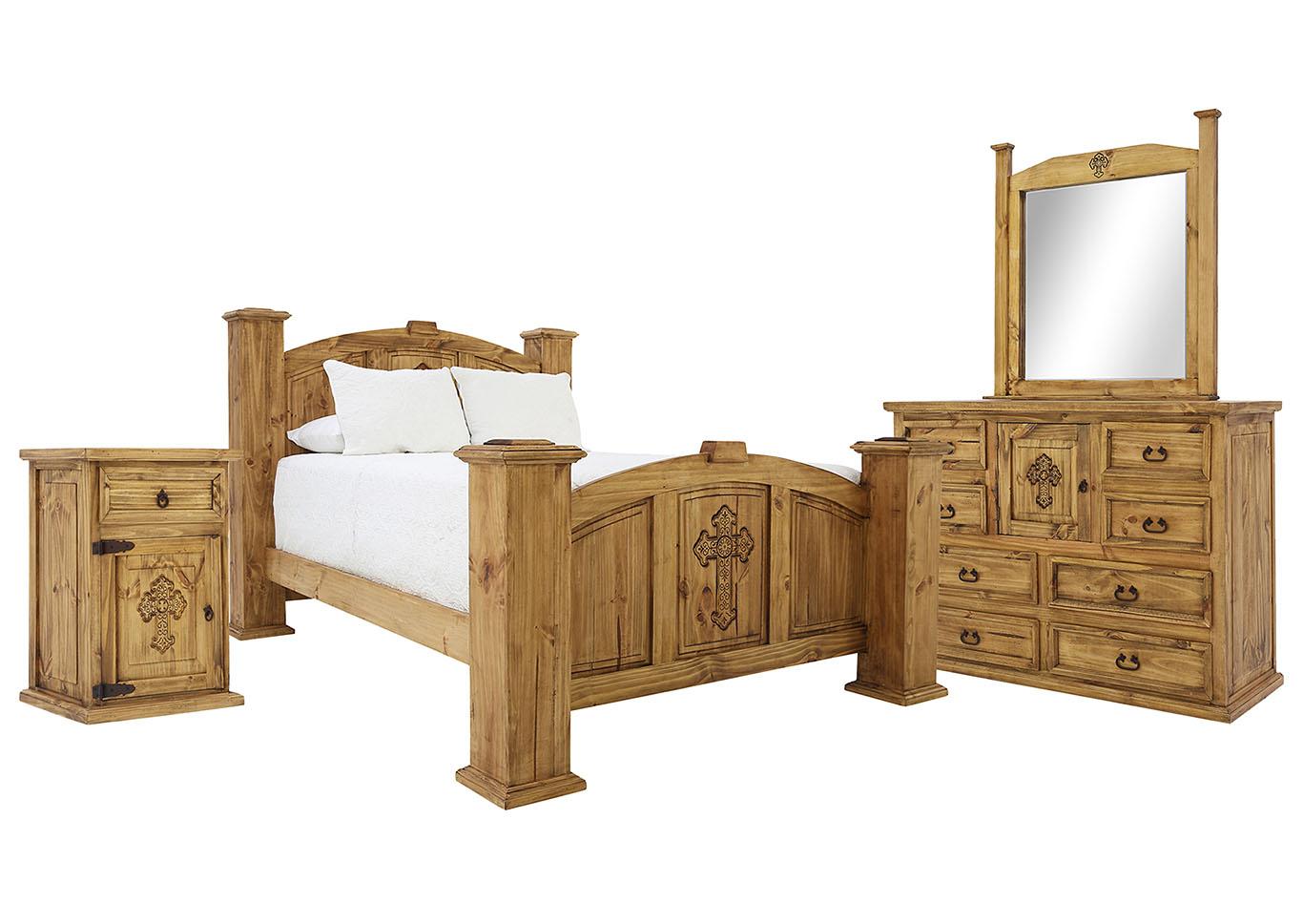 Casa Honey With Cross King Bedroom Set Ivan Smith Furniture