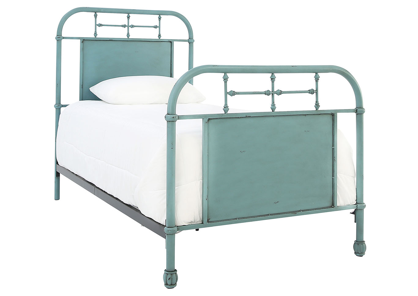 Jolene Vintage Blue Twin Bed Ivan Smith