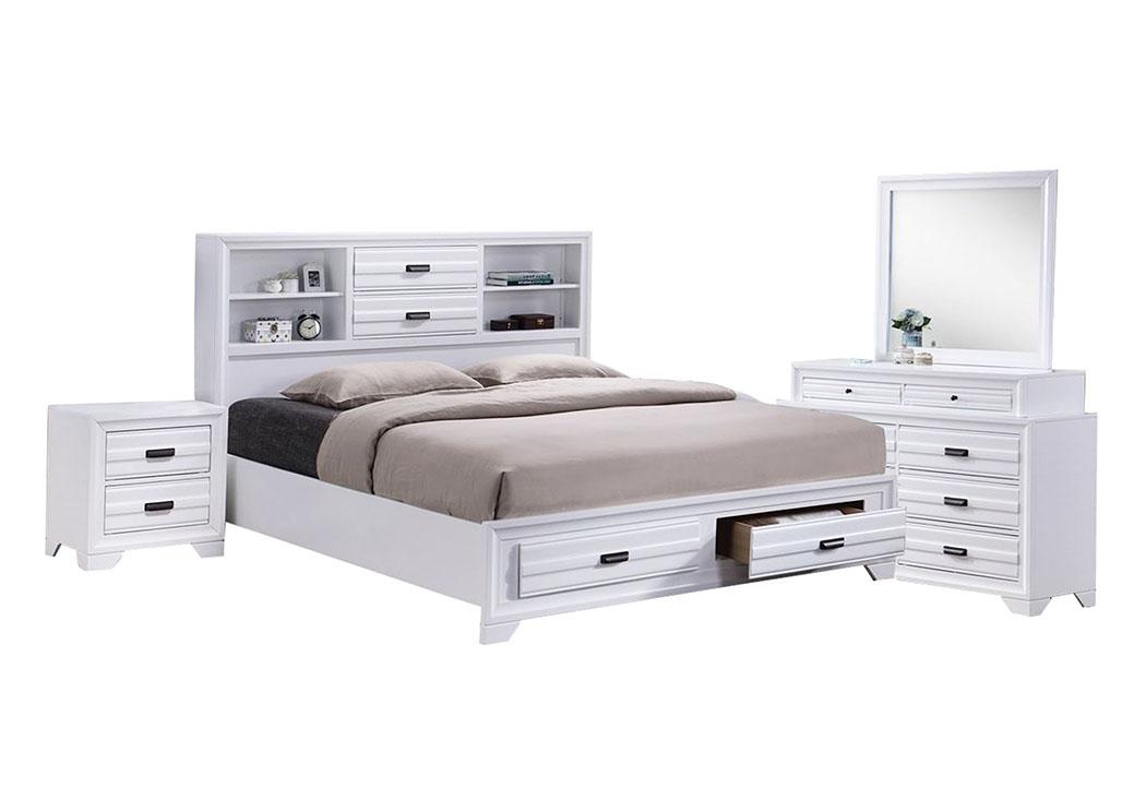 Aslinn White Full Bedroom Set Ivan Smith