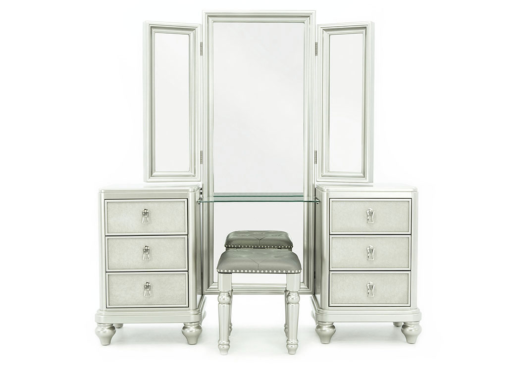 DIVA VANITY WITH STOOL AND MIRROR,SAMUEL LAWRENCE FURNITURE