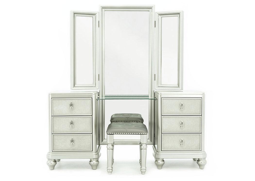 Diva Vanity With Stool And Mirror Ivan, Vanity Mirror Sets Furniture