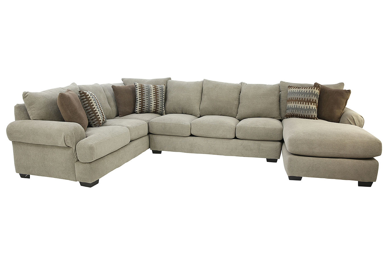 BACARAT 3 PIECE RIGHT ARM CHAISE SECTIONAL,CORINTHIAN FURNITURE
