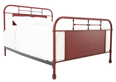 Image for JOLENE VINTAGE RED QUEEN BED
