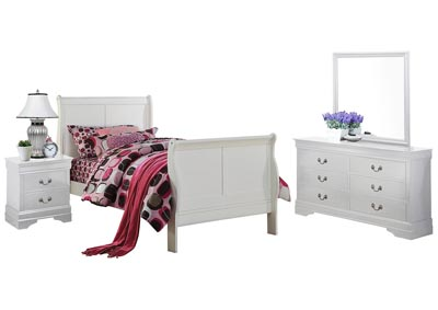 Image for LOUIS PHILIP WHITE TWIN BEDROOM SET