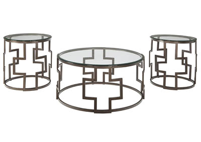 Image for FROSTINE 3 PIECE COCKTAIL TABLE SET