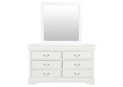 Image for LOUIS PHILIP WHITE DRESSER AND MIRROR