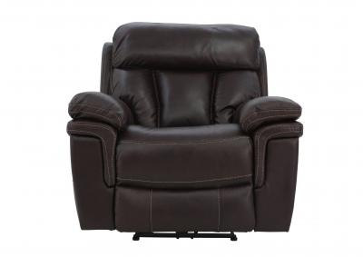 Image for CAYMAN MAHOGANY LEATHER POWER RECLINER