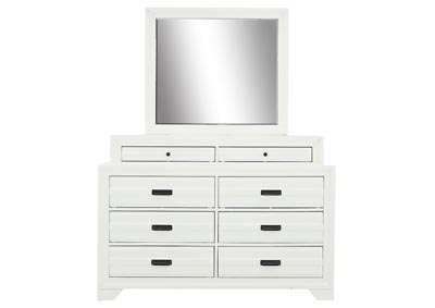 Image for ASLINN WHITE DRESSER AND MIRROR