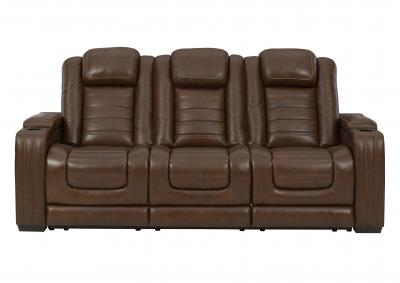 Image for BACKTRACK CHOCOLATE LEATHER POWER RECLINING SOFA