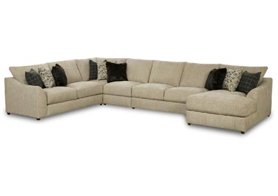 Image for KYRA MARBLE 5 PIECE SECTIONAL