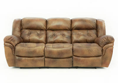 Image for HUDSON SADDLE LEATHER RECLINING SOFA