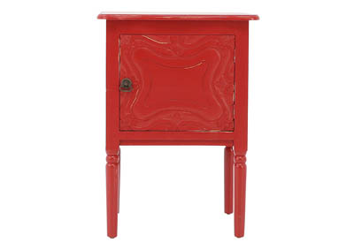 Image for CARSON RED ACCENT TABLE