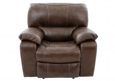 Image for OAKHAM COFFEE LEATHER POWER RECLINER