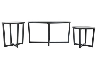 Image for SHERWIN EBONY 3 PIECE OCCASIONAL TABLE SET