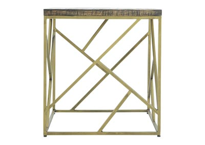 Image for CRAZY CUT IRON END TABLE