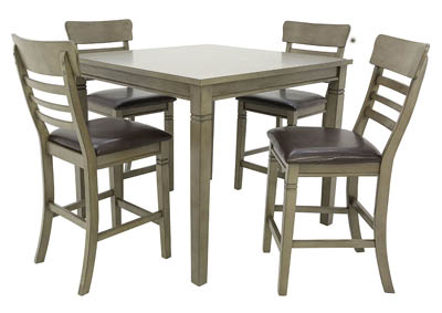 Image for BLAINE GREY 5 PIECE PUB DINING SET