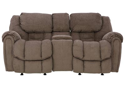 Image for BAXTER TAUPE RECLINING LOVESEAT WITH CONSOLE