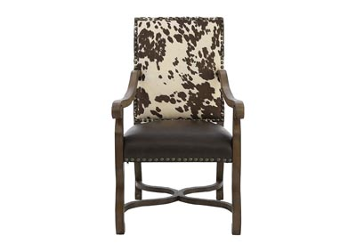 Image for MESQUITE RANCH LEATHER/FAUX COWHIDE ARMCHAIR