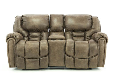 Image for BAXTER MOCHA RECLINING LOVESEAT WITH CONSOLE