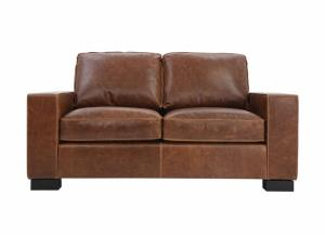 Image for CHARLEY CHOCOLATE LEATHER LOVESEAT