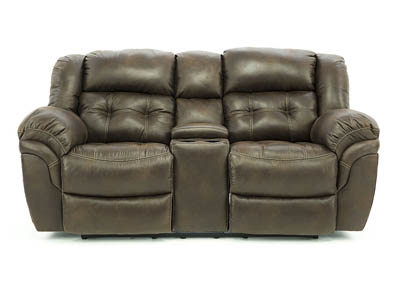 Image for HAYGEN ESPRESSO RECLINING LOVESEAT WITH CONSOLE