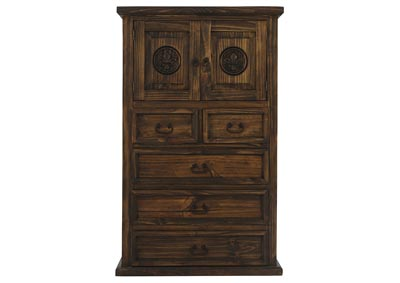 Image for CASA ANTIQUE CHEST WITH FLEUR DE LIS