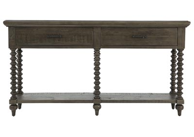 Image for PEMBROKE PLANTATION DISTRESSED GREY CONSOLE