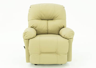 Image for SHELBY MUSHROOM LEATHER ROCKER RECLINER