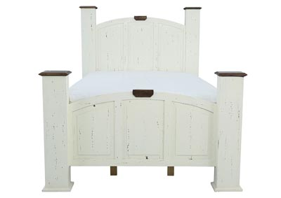 Image for MANSION AGED WHITE QUEEN BED