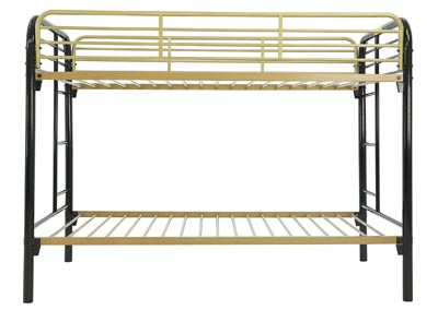 Image for MADISYN BLACK/GOLD TWIN/TWIN BUNKBED