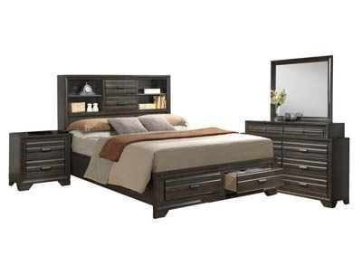 Image for ASLINN ANTIQUE GREY QUEEN BEDROOM SET
