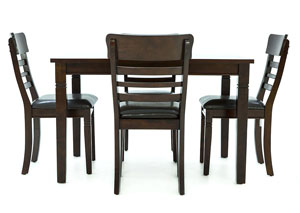 Image for BLAINE DARK CHERRY 5 PIECE DINING SET