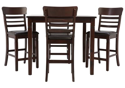 Image for BLAINE DARK CHERRY 5 PIECE PUB SET