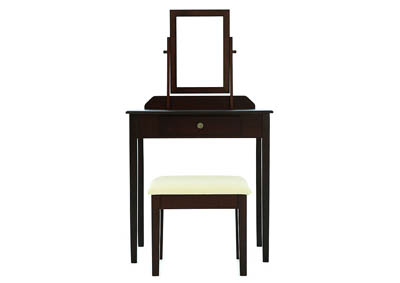 IRIS ESPRESSO VANITY AND STOOL