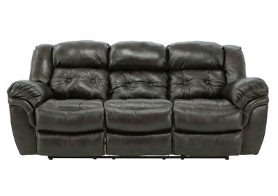 Image for HUDSON CHOCOLATE LEATHER RECLINING SOFA