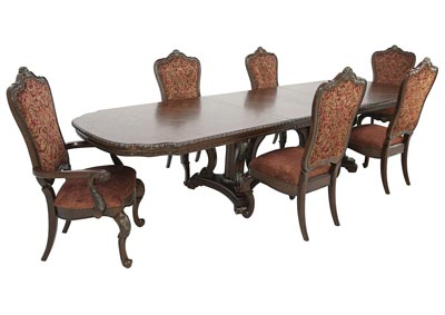 GENEVIEVE 7 PIECE DINING SET,HOME INSIGHTS