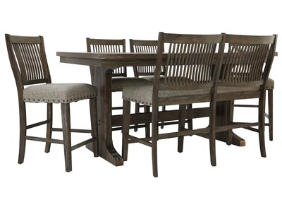 Image for CHARLESTON II 6 PIECE COUNTER HEIGHT DINING SET