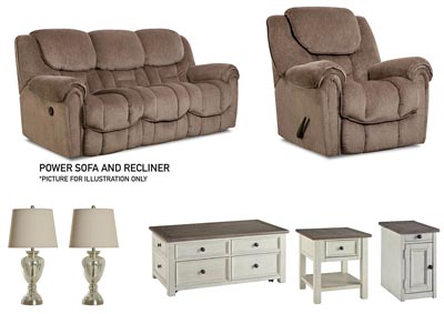 Image for BAXTER TAUPE POWER LIVING ROOM SET