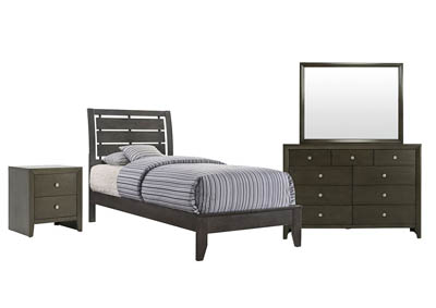 Image for EVAN GREY TWIN BEDROOM SET