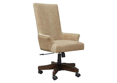 Image for BALDRIDGE LIGHT BROWN UPH SWIVEL DESK CHAIR