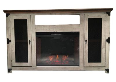 Image for JON MESH FIREPLACE MEDIA STAND
