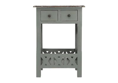 Image for CHRISTIAN LIGHT GRAY ACCENT TABLE