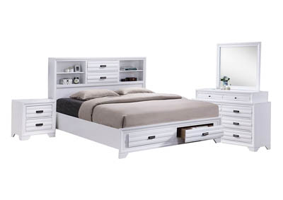 ASLINN WHITE FULL BEDROOM SET