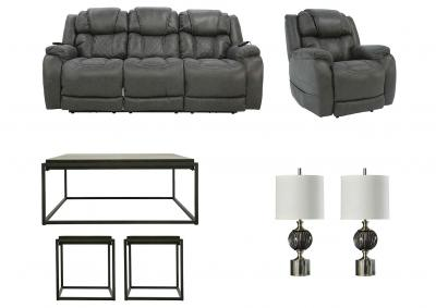 Image for CASON STEEL POWER LIVING ROOM SET