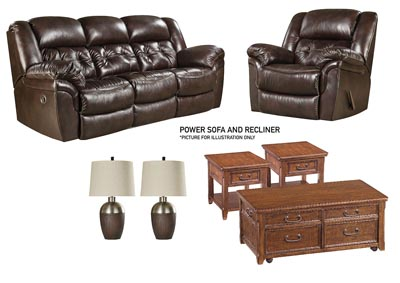 Image for HUDSON CHOCOLATE POWER LIVING ROOM SET