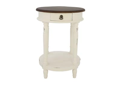 Image for CAROLYN IVORY ACCENT TABLE